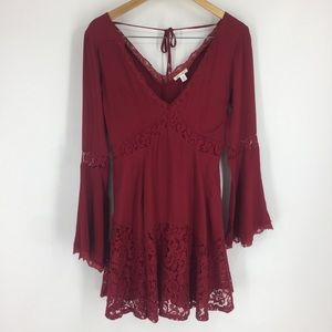 Francesca's Collection Deep Red Dress Miami